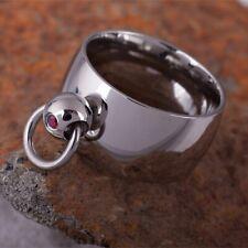 The Story of o anello in acciaio inossidabile con Anello dell'O SM slave Master BDSM DOM SUB ROSSO
