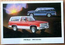 1982 Postcard: Chevrolet / Chevy Blazer and Suburban