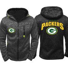 New Hot GREEN BAY PACKERS Hoodie Fleece Hooded Sweatshirt Football Jacket Gift