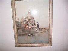 "Venice Famed Italian Artist Emanuele Brugnoli ""View of Santa Maria della Salute"""