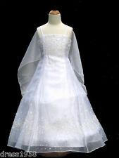 Recital, Wedding, Occasion/Pageant Teen Girls Dress,White Sz: 8,10,12,14