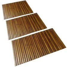 1/2/3pcs Timber Bath Mat Acacia Wood Shower Bathroom Gym Pool Spa Board 80x50cm