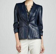 NOORA Womens Leather Jacket 100% Genuine Leather Vintage Blazer Coat WA171
