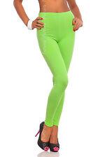 longue vert citron Premium Leggings coton confortable élastique pantalon tailles