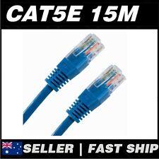 1x 15m Cat 5 5E Cat5 Cat5E Blue  Ethernet Network Cable Lead