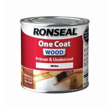 Ronseal One Coat White Wood Primer & Undercoat 250ml & 750ml