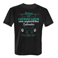 Labrador Herrchen Herren T-Shirt Fun Shirt Spruch Geschenk Idee Hunde Besitzer
