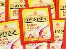 Twinings Lemon and Ginger - individual envelope tea bags - FREE UK P&P