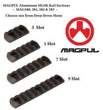 Magpul MAG580 581 582 583 MLOK M-LOK Rail Sections - 3, 5, 7, or 9 Slots - NEW