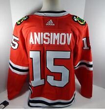 New Men Chicago Blackhawks Artem Anisimov #15 Auth Adidas Pro Red Jersey