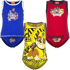 New boys licensed Paw Patrol underwear and vest set cotton sizes 2-8 years bnwt