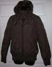Merrell Womens Brown Down Quilted Puffer Jacket Medium M
