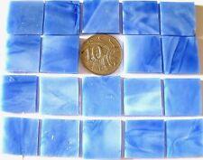 25 Blue Mosaic Tiles 2cm x 2cm NEW Handy Bigger Size