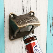Vintage Bronze Wall Mounted Wine Beer Soda Bottle Cap Opener Bar Accessories Hot