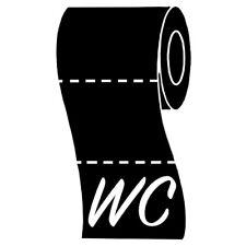 Sticker WC (Toilettes) Rouleau de papier déroulé, 15x9 cm à 50x30 cm,  (WC009)