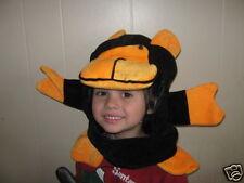 Furry Velvet Black/Yellow Monkey Costume Hat Animal Helmet Hood funny character