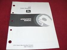 John Deere 26P Lawn Sweeper Operator's Manual