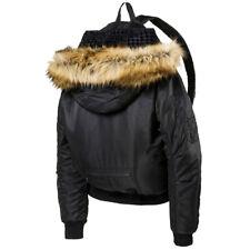 Puma by Rihanna Fenty Bomber Jacket Backpack Adults Black 074696 01 M4
