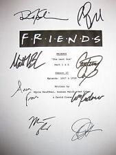 Friends Signed Finale TV Script X8 Jennifer Aniston Courteney Cox Lisa Kudrow rp