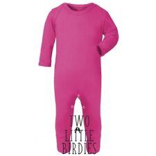 Wholesale pack of 6 Plain long Sleeve soft sleepsuit baby romper printing Blank