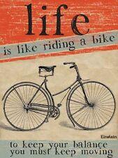 Life is like riding a bike-continuez mots de sagesse-plaque métal signe 767