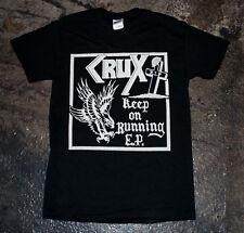 Crux - 'Keep on Running' T-shirt (punk oi blitz discharge partisans insane)