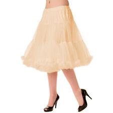 Banned Unterrock Petticoat Tüllrock 50er 60er Swing Tutu - Starlite Beige