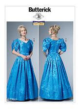 BUTTERICK 1800's 19th CENTURY VICTORIAN DRESS & CHEMISETTE COSTUME PATTERN 6-22
