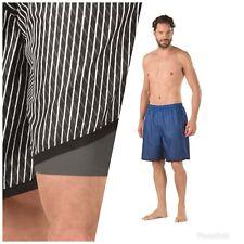 NWT Men's Speedo Grid Aqua Volley Jammer Swim Shorts Swim Suit