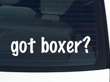 got boxer? DOG BREED FUNNY DECAL STICKER ART WALL CAR CUTE