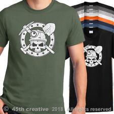 Miner T Shirt - miners skull crossbones shirt mining skull hard hat light shirt
