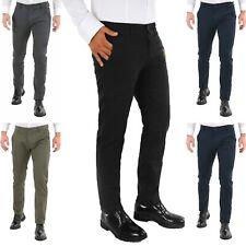 Guy Pantaloni Uomo chino Slim Fit  Elasticizzati Invernali 44 46 48 50 52 casual