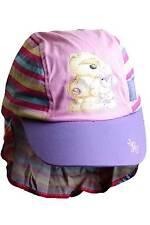 Girls Fizzy Moon Bear Rabbit Novelty Legionnaires Sun Hat Pink Striped 2-6yrs