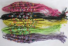 Kabbalah Evil Eye Protection Braided Bracelet - Shamballa Style Turkish Hamsa