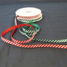 5 mètres 9mm Bertie's arcs Candy Cane Joyeux Noël Grosgrain ruban Artisanat