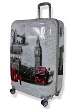 Lightweight Hard Shell PC London Landmark printed 4 wheel Suitcases luggage PC70