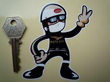 MOTO GUZZI PUDDING BASIN Helmet Rider V 2 finger salute m'cycle / helmet STICKER