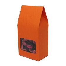 New Orange Kraft Storage Treat Boxes w/ Clear Window Multiple Quantities 8x16cm