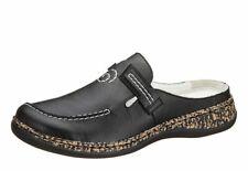 Rieker Antistress Damen Schuhe Hausschuh Pantoffel Pantolette Clog 46393-00 schw