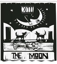 Moon Shower Curtain Lobster Wolves Moon Tarot Print for Bathroom