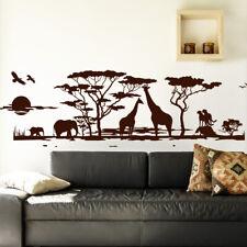 Wandtattoo Wandsticker Wandaufkleber Schlafzimmer Afrika Landschaft Steppe 1043W