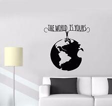 Wall Decal Man Planet Earth World Environment Protection Life Vinyl (ed656)