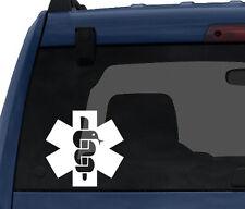 Medical #4- Caduceus Serpent Cross Emergency Services - Car Tablet Vinyl Decal