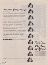 """1945 Bette Davis """"The Corn is Green"""" Movie Promo Ad"""