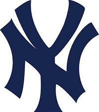 "New York Yankees ""NY"" logo White Black Navy Blue Vinyl Decals Choose your size"