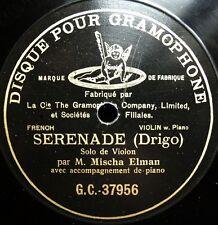 0938/ MISCHA ELMAN-Violin-Serenade-Drigo-Pre Dog-78rpm Schellack no vinyl