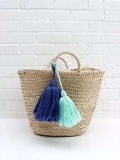 Grandes colores brillantes * Borla * para una bolsa de Playa Paja Bolso Encanto accesorio.