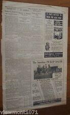 Newspaper ad Mckay Massey Harris 1946 sunshine  baler alfa austral engine Daisy