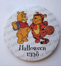 Htf Halloween 1998 Pooh & Tigger Cast Member Pin Back Button