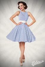 Vintagekleid Karokleid blau/weiß